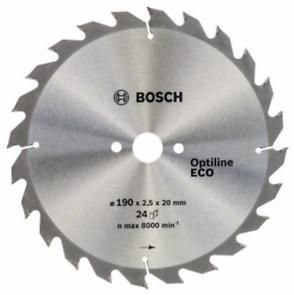 Диск пильный BOSCH OPTILINE ECO, 190х20/16x24зуб