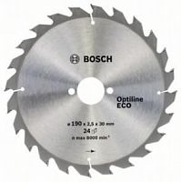 Диск пильный BOSCH OPTILINE ECO, 190х30 мм 24зуб