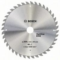 Диск пильный BOSCH OPTILINE ECO, 254х30мм 40зуб